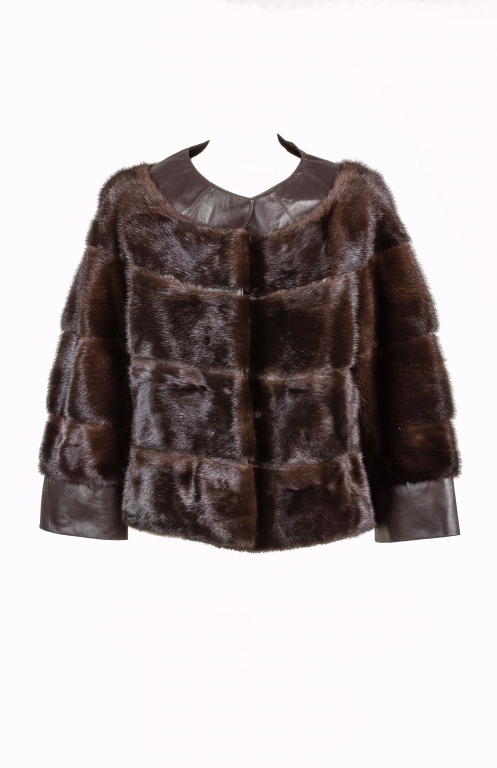 Chocolate Mink Cropped Jacket