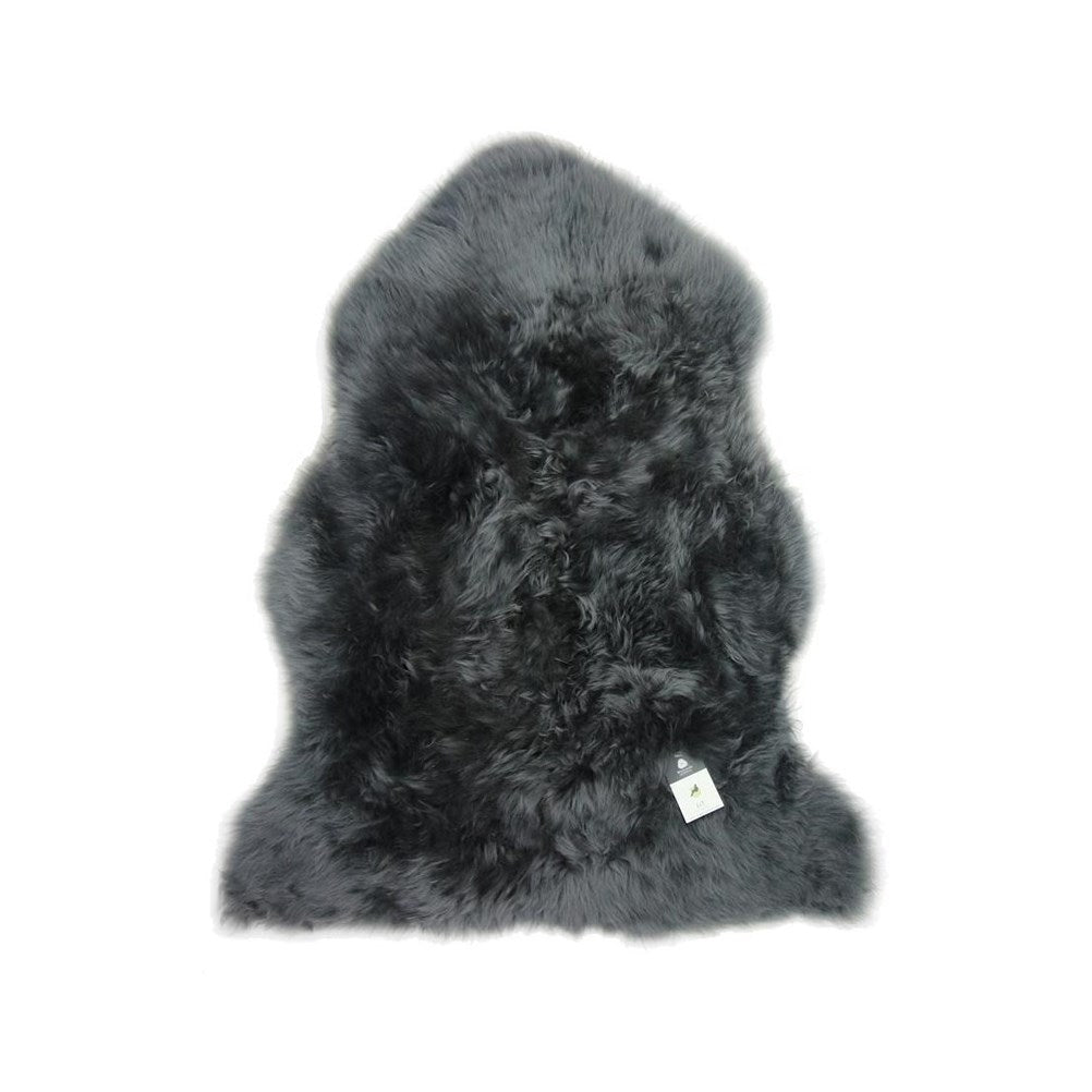 Dark Grey Single Sheepskin