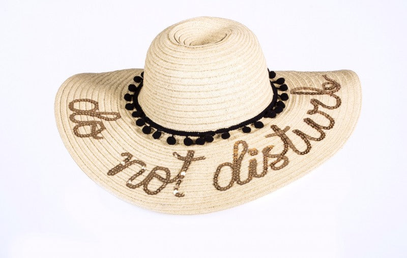 Do Not Disturb Straw Hat