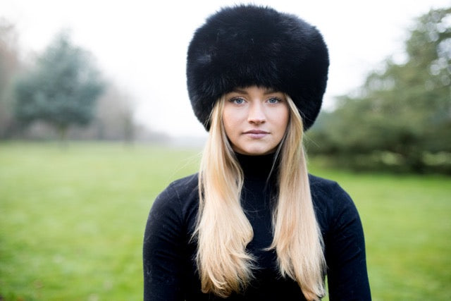 Ebony Fox Fur Russian Hat