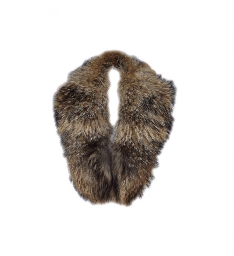 Natural Raccoon Fur Collar