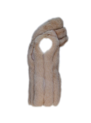 Nutmeg Hooded Fox Fur Gilet