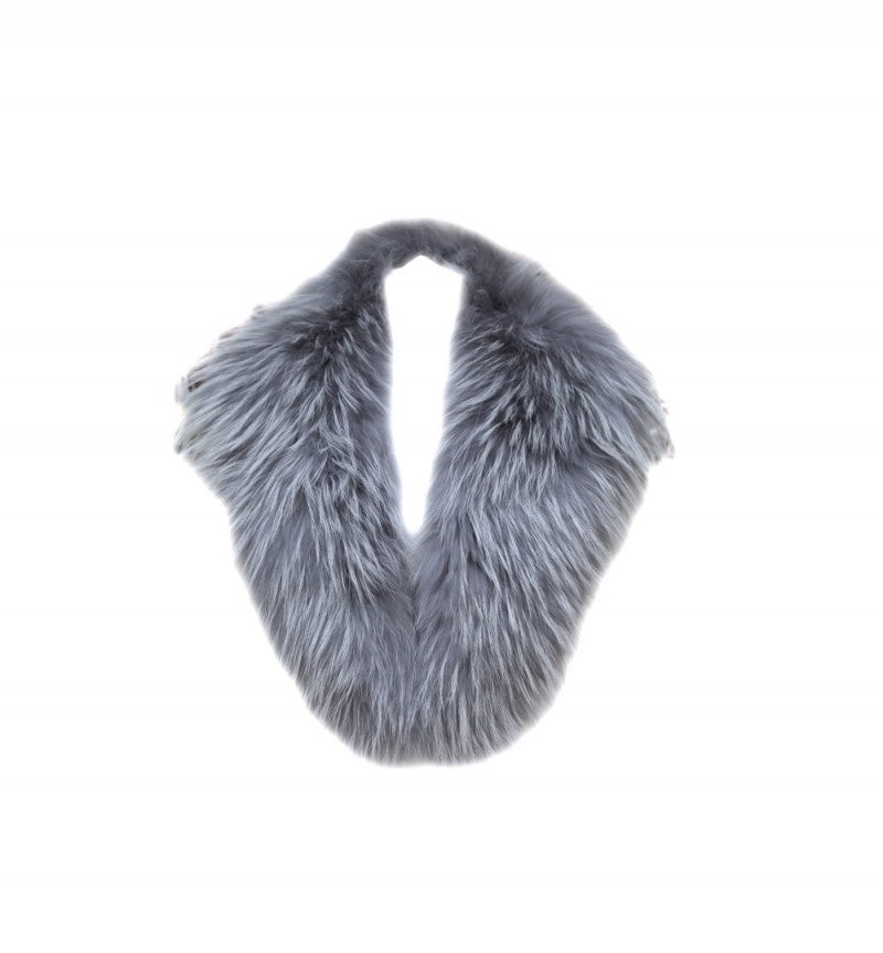 Silver Raccoon Fur Collar