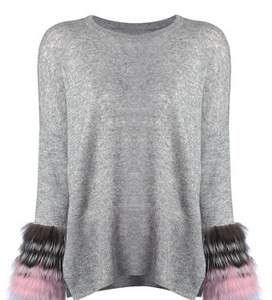 Sweater With Fur Cuffs