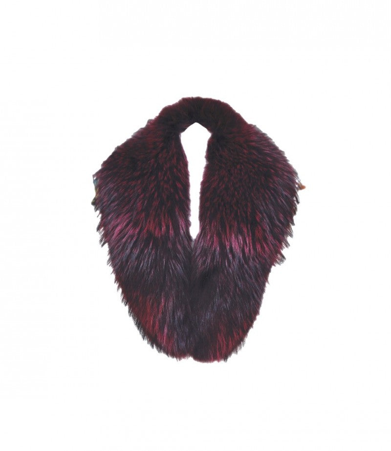 Wine Raccoon Fur Collar
