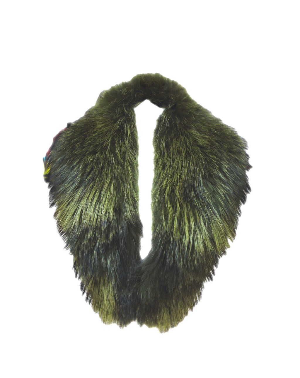 Khaki Raccoon Fur Collar