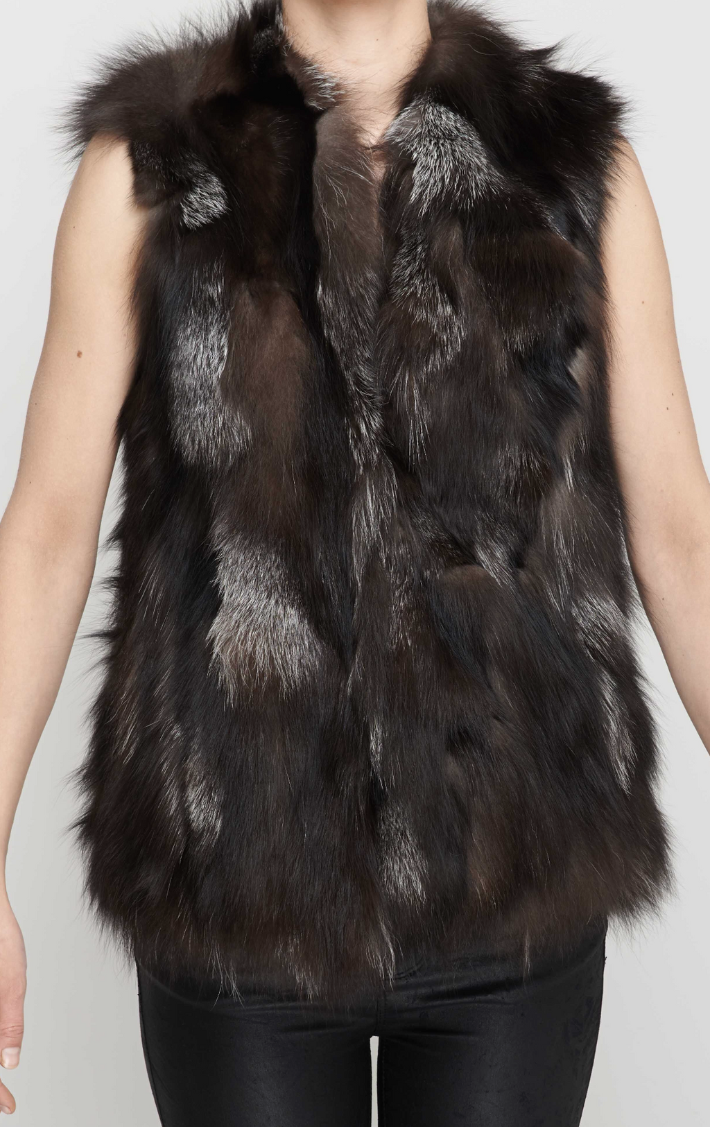 Multi Tonal Fox Fur Gilet