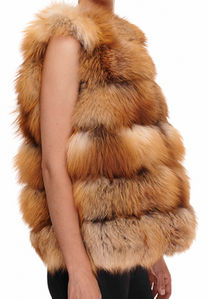 The Kendall Fox Fur Gilet
