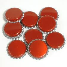 100 Crown Caps Red