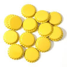 100 Crown Caps Yellow