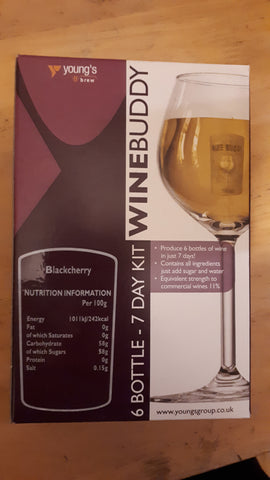 Winebuddy blackcherry 6 bottles