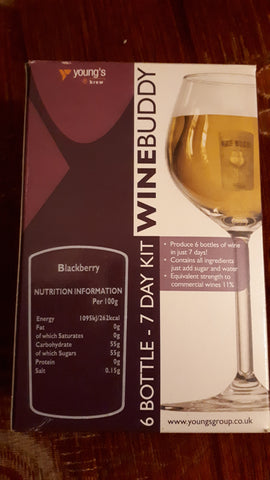 Winebuddy blackberry 6 bottles
