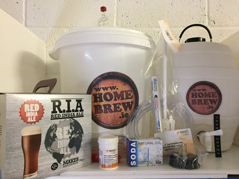 Homebrew.ie Premium Starter Pack including Barrel, Co2 pack and Quality Craft Beer  ( Or any beer/lager/cider in our range ) Only valid to 21st December 2018