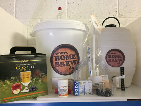 Homebrew Starter Kit for Cider including Barrel,Co Muntons Premium GoldCider