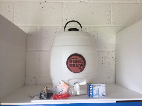5 Gallon Basic White Barrel with Injector System.
