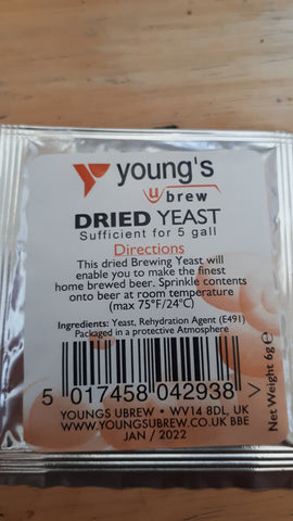 Dried yeast youngs 5g