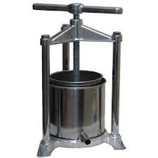 Aluminium/Stainless Steel Fruit Press 5.5 L Capacity