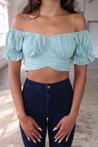 Bailey crop top (green)