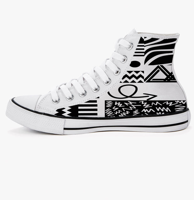 Abstract printed Trainers in monochrome