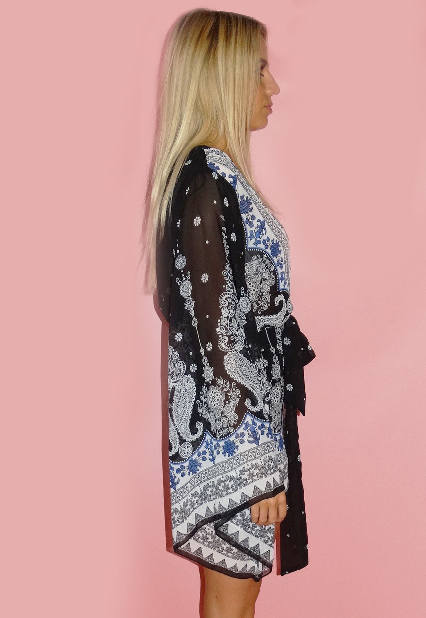 Black Paisley Playsuit