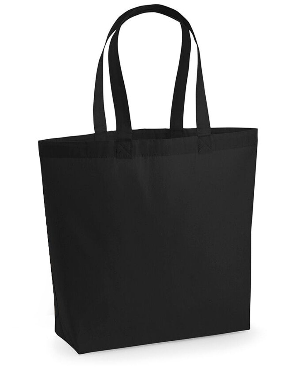 Holographic Fro words woven tote bag in black
