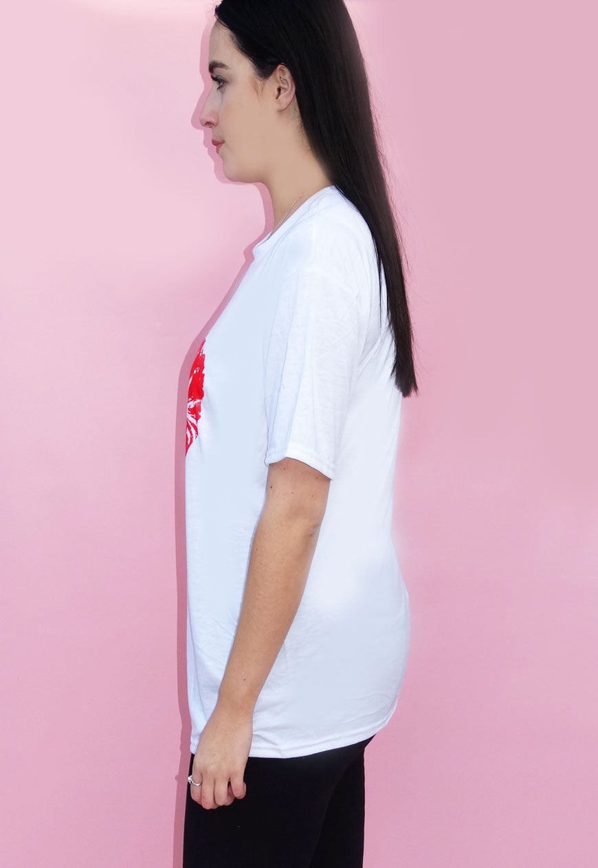 Red Heart Lip T-shirt