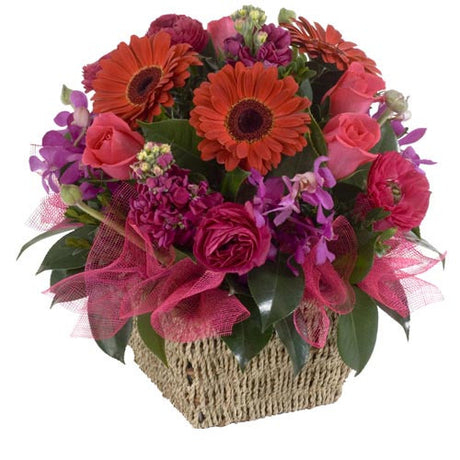 Ruby - ARRANGEMENT - (cottage basket)