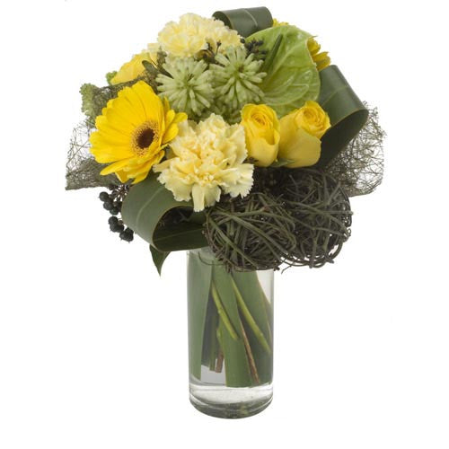 Limoncello - ARRANGEMENT (glass vase)