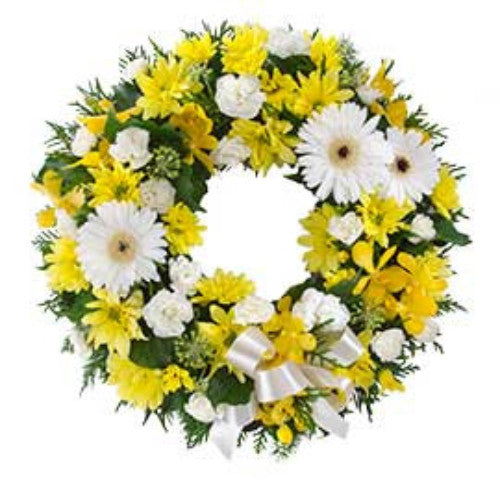Eternity  Cluster Wreath Suitable for Service - YELLOW