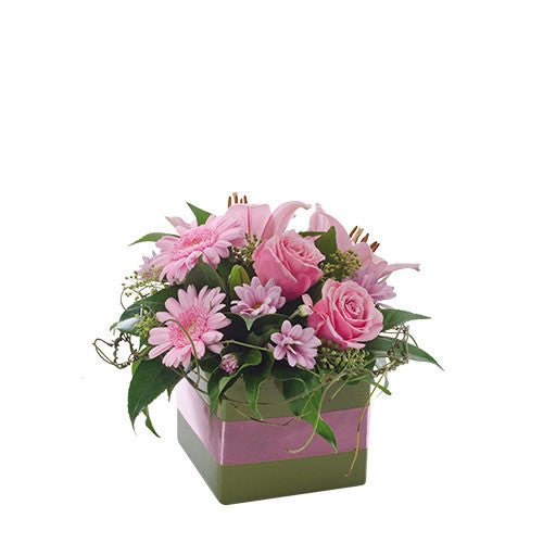 Pinky  Petite Box Arrangement Suitable for Home