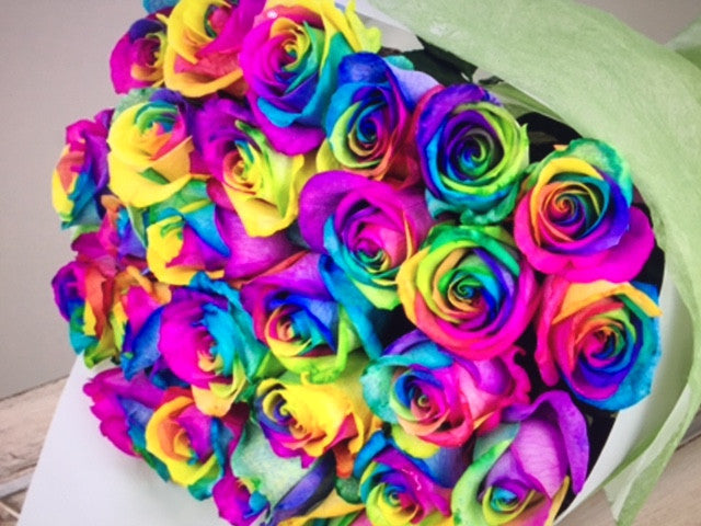 RAINBOW ROSES - Click-&-Collect SYDNEY head office | A&L Florist