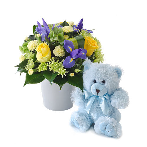 It's A Boy! - ARRANGEMENT - (box & teddy)