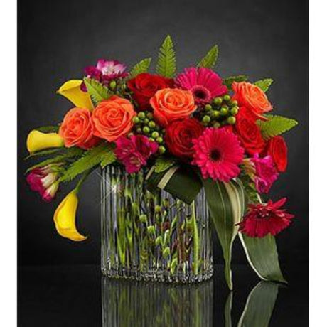 The Belinda - Modern Arrangement in a Glass Vase