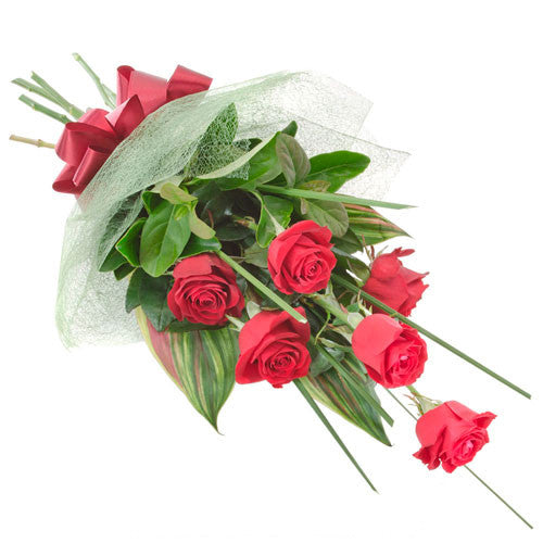 Affection - 6 RED ROSES - (Valentine Bouquet)