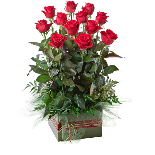 Now And Forever - 12 RED ROSES (Valentine Large Box Arrangement)