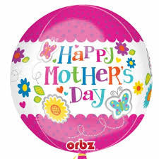 1 x Helium Foil Balloon - HAPPY MOTHERS DAY