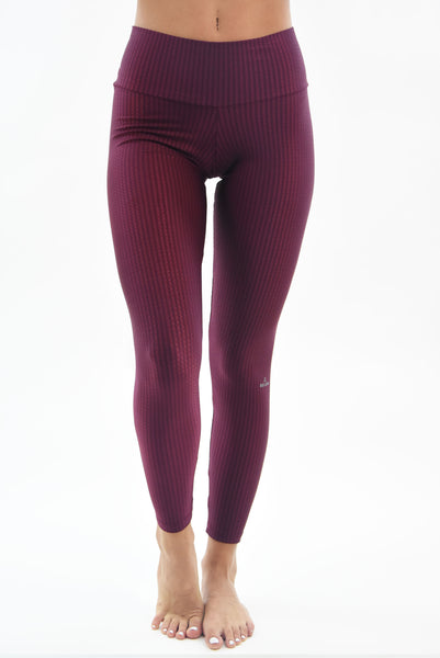 RIO GYM Pilar Legging Bordeaux yoga wear for women