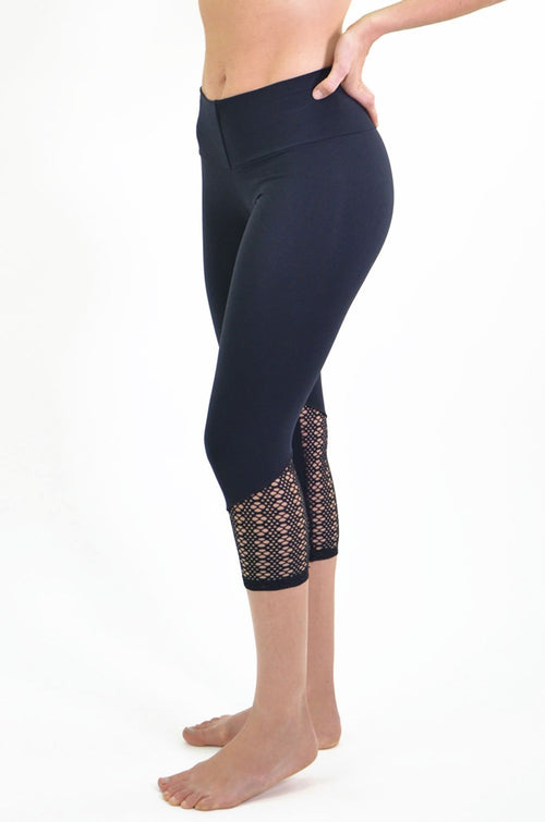 RIO GYM Marta Lace Capri yoga wear for women