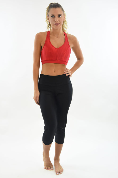 RIO GYM Arpoador Bra - Oregon  Red yoga wear for women