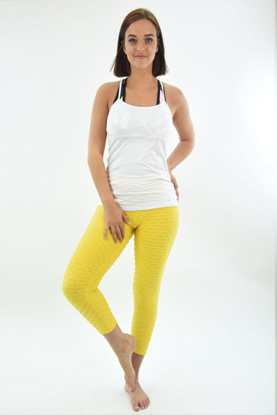 RIO GYM PaolaTank White yoga wear for women