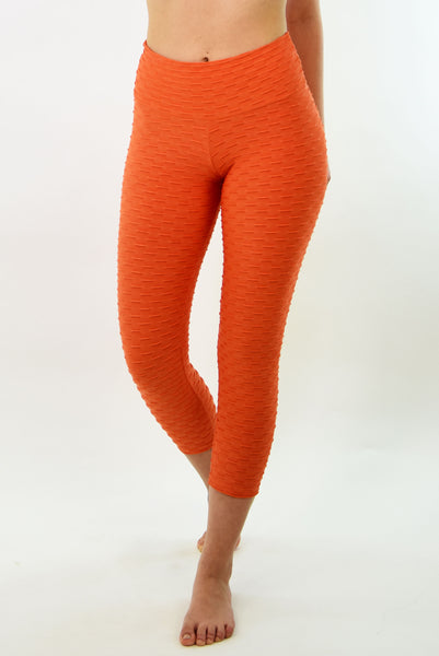 RIO GYM Ana Ruga Orange Capri yoga wear for women