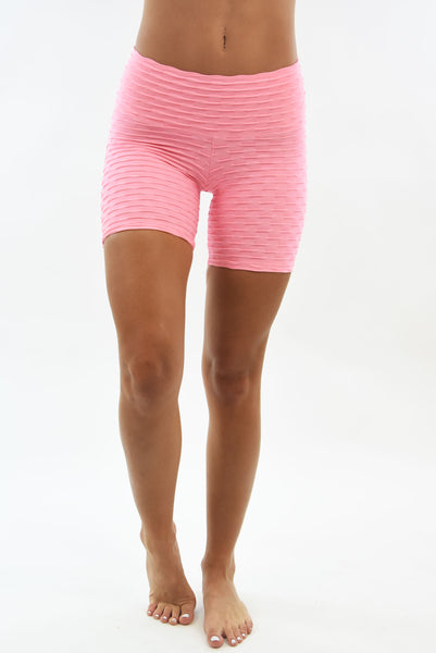 RIO GYM Ana Ruga Shorts - Baby Pink yoga wear for women
