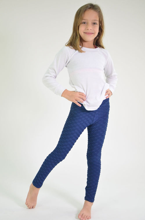 RIO GYM Mini-me Navy Ana Ruga Legging yoga wear for women