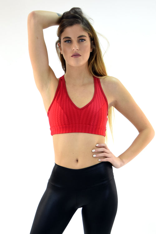 RIO GYM Ellie Oregon Bra - Red yoga wear for women