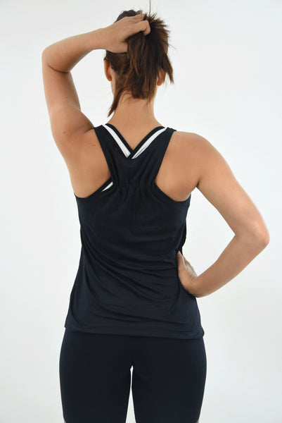 RIO GYM Leblon Tank Black yoga wear for women