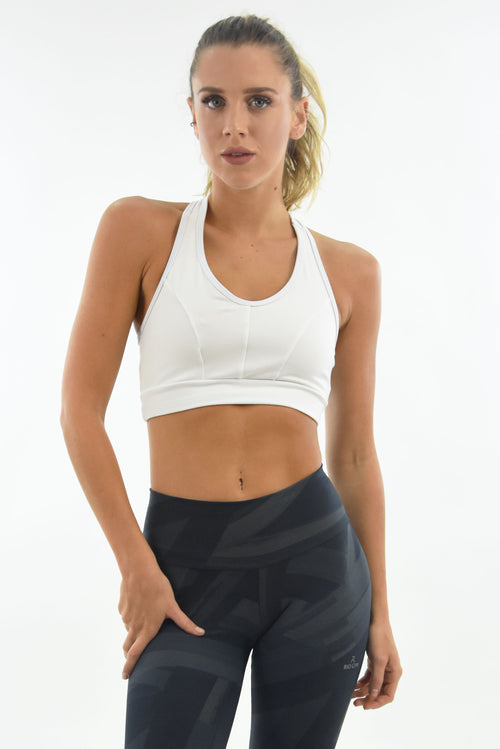 RIO GYM Arpoador Bra - White yoga wear for women