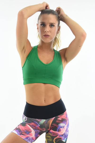 RIO GYM Urca Bra - Green yoga wear for women