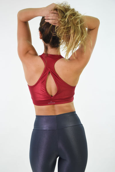 RIO GYM Arpoador Bra - Wonder Bordeaux yoga wear for women