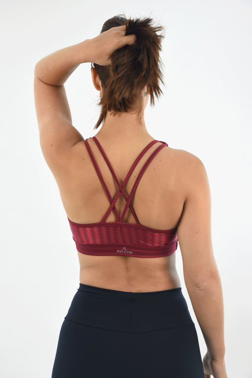 RIO GYM Sonia Bra - Oregon Bordeaux yoga wear for women