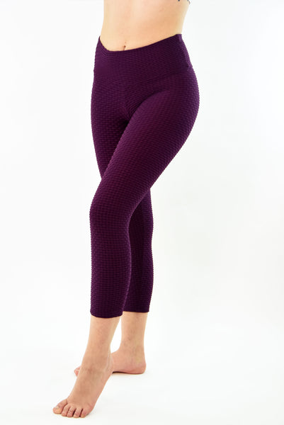 RIO GYM New Ana Ruga Bordeaux Capri yoga wear for women